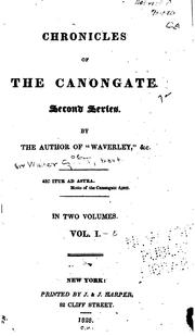 Cover of: Chronicles of the Canongate by Sir Walter Scott