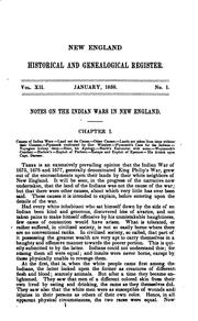 Cover of: The New England Historical and Genealogical Register for the year 1858.VOLUME XII by Samuel G. Drake