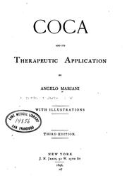 Cover of: Coca and its therapeutic application by Angelo Mariani