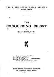 Cover of: The Conquering Christ | Ilsley Boone