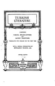 Cover of: Turkish Literature | Epiphanius Wilson