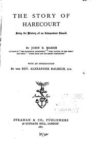Cover of: The Story of Harecourt by Marsh, John B.