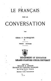 Cover of: Le francais par la conversation by Charles P. Du Croquet