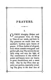Cover of: Prayers by Rufus Ellis