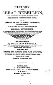 Cover of: HISTORY OF THE GREAT REBELLION by Thomas P. Kettell