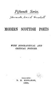 Cover of: Modern Scottish Poets: With Biographical and Critical Notices by David Herschell Edwards
