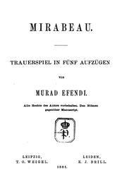 Cover of: MIRABEAU by MURAD EFENDI