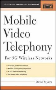 Cover of: Mobile Video Telephony (Professional Engineering) by David Myers