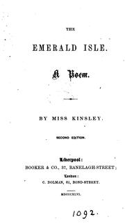 Cover of: The Emerald isle, a poem by Kinsley