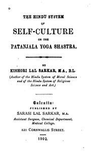 Cover of: The Hindu System of Self-culture of the Patanjala Yoga Shastra by Kishori Lal Sarkar