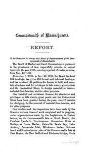 Cover of: Annual Report by Board of Harbor and Land Commissioners of Massachusetts