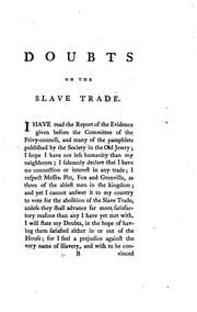 Cover of: Doubts on the Abolition of the Slave Trade: By an Old Member of Parliament by John Ranby