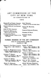 Cover of: Catalogue of the Works of Art Belonging to the City of New York by Art Commission of the City of New York