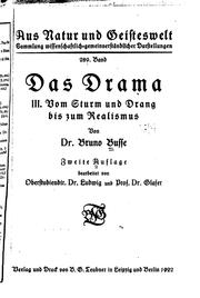 Cover of: Das Drama by Bruno Busse