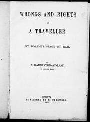 Cover of: Wrongs and rights of a traveller | R. Vashon Rogers