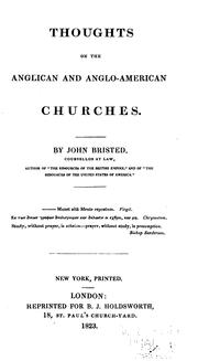 Cover of: Thoughts on the Anglican and Anglo-American Churches by John Bristed
