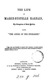 Cover of: The life of Marie-Eustelle Harpain by Marie Eustelle Harpain