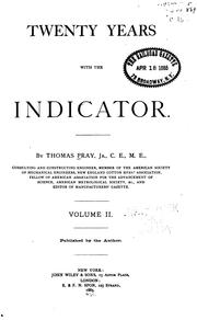Cover of: Twenty Years with the Indicator by Thomas Pray