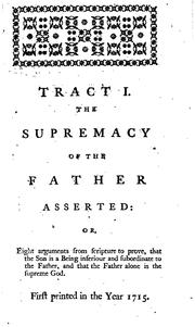 Cover of: A Collection of Tracts on Various Subjects by Thomas Chubb