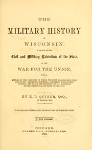 Cover of: The military history of Wisconsin by E. B. Quiner