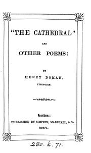 "Cover of: ""The Cathedral"" and other Poems by Henry Doman"