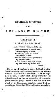 Cover of: The Life and adventures of an Arkansas doctor by David Rattlehead