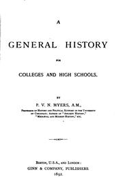 Cover of: A General History for Colleges and High Schools by Philip Van Ness Myers