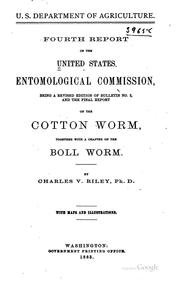 Cover of: Report of the United States Entomological Commission: 1st-4th | United States Entomological commission