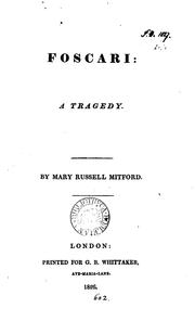 Cover of: Foscari: a tragedy by Mary Russell Mitford