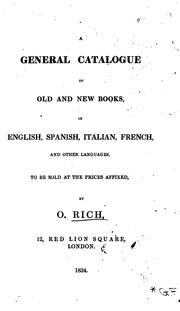 Cover of: A General Catalogue of Old and New Books by Obadiah Rich