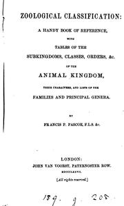 Cover of: Zoological classification: a book of reference by Francis Polkinghorne Pascoe