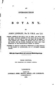 Cover of: An Introduction to Botany by John ( Lindley