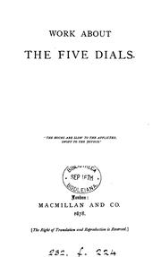 Cover of: Work about the Five dials [by the hon A.M. Stanley] by Alethea Maude Stanley