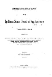 Cover of: Annual Report of the Indiana State Board of Agriculture by Indiana State Board of Agriculture