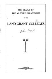 Cover of: The Status of the Military Department in the Land-grant Colleges by Edward Orton