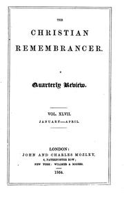 Cover of: The Christian Remembrancer by John and Charles Mozley