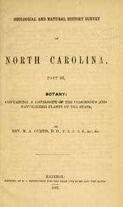 Cover of: Botany by North Carolina. Geological Survey, 1852-1863.