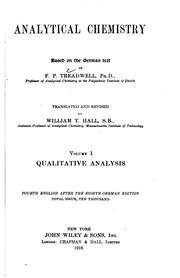 Cover of: Analytical Chemistry by Frederick Pearson Treadwell