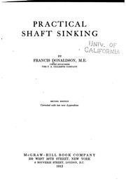 Cover of: Practical Shaft Sinking by Francis Donaldson