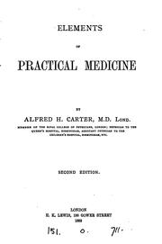 Cover of: Elements of Practical Medicine by Alfred Henry Carter