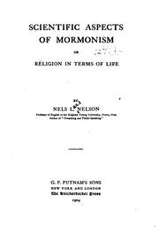 Cover of: Scientific Aspects of Mormonism by Nels Lars Nelson