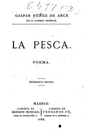 "Cover of: La pesca: Poema by Gaspar N""uñez de Arce"