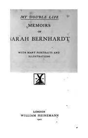 Cover of: My Double Life: Memoirs of Sarah Bernhardt by Sarah Bernhardt