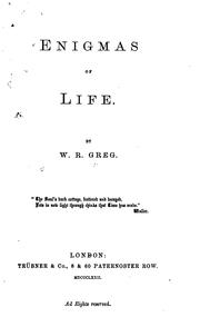 Cover of: Enigmas of Life by William Rathbone Greg