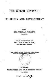 Cover of: The Welsh revival: Its Origin and Development by Thomas Phillips