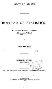 Cover of: Biennial Report of the Chief of the Bureau by Indiana Statistics Bureau