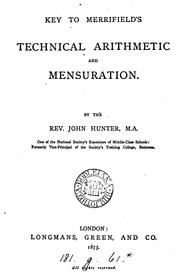 Cover of: Technical arithmetic and mensuration by Charles Watkins Merrifield