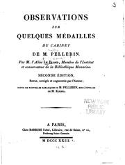 Cover of: Observations sur quelques médailles du cabinet de M. Pellerin by Le Blond