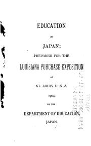Cover of: Education in Japan by Japan Monbushō