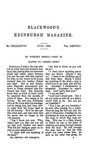 Cover of: BLACKWOOD'S EDINBURGH MAGAZINE. VOL. CXXVIII. JULY-DECEMBER 1880 by William Blackwood And Sons